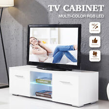 High Gloss White TV Stand Unit Cabinet TV Entertainment Center Console Furniture