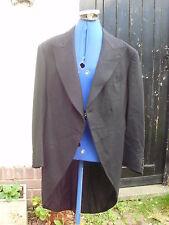 Black Wool Morning Coat 1934 Bernard Weatherill Ltd Savile Row Steampunk