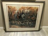 "Mark King ""Autumn Hunt"" Limited Edition Serigraph Print w/COA, Framed, Signed"