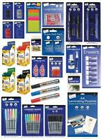 School Office Stationery Supplies Eraser Pen Highlighter Papers Sticky Notes
