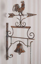 FRENCH provincial wall BELL rooster  GARDEN OUTDOOR NEW rust