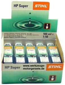 10x 100ml Zweitaktmotoröl Stihl HP Super, 0781 319 8052, Mischöl, 1Liter