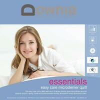 Downia Essentials Easy Care Microdenier Quilt Doona SINGLE/DOUBLE/QUEEN/KING NEW