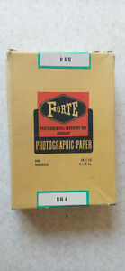 Vintage Hungarian B&W Glossy Photo Paper Forte Bromofort BN4 100pc 10x15cm