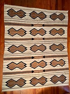 SPECTACULAR & LARGE NAVAJO HUBBELL TRADING POST SERAPE REVIVAL RUG,EXCELLENT,NR!