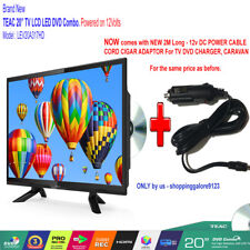 "TEAC 20"" 12V (51cm) HD LED LCD TV DVD COMBO Caravan Motorhome Boat TV +12V Cable"