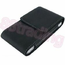 BLACK Vertical Mobile Phone Leather Case Pouch with Belt Waist Clip VB4 Design