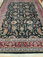 "9'9"" x 13'10"" Indian Agra Oriental Rug - Full Pile - Hand Made - 100% Wool"