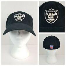Oakland Raiders NFL Size L Black Raised Embroidered Logo Ball Cap Cotton