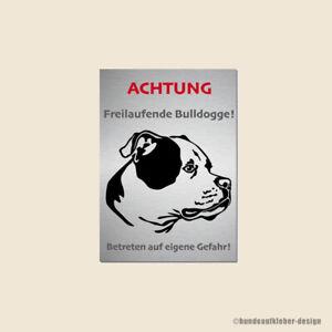 American Bulldog Warnschild   Bully Hundeschild Bulldogge   wetterfest Art:55WS