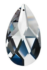 Set of 24 - 89mm Clear Asfour Crystal 872 Pear Shaped Wholesale Prisms - 1 Hole