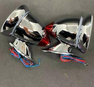 LED Classic Mini Wing Mirror Chrome Bullet Racing car mg triumph austin mirrors
