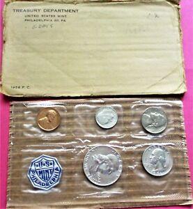 1956 PROOF SET. 5 COIN SET IN A U.S. MINT FLAT PACK. (2456)