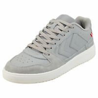 hummel St Power Play Mens Aluminium Navy Leather & Textile Fashion Trainers