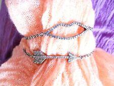 Sparkly Montana Silversmith bracelets, lips and arrow with CZs