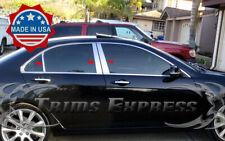 2004-2008 Acura TSX 6Pc Chrome Pillar Post Stainless Steel Trim Door Cover