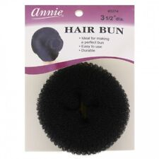 "ANNIE 3 1/2"" HAIR BUN DONUT TYPE NYLON MESH FOAM FOUNDATION BLACK #3274"