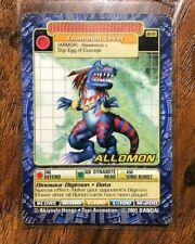 TOEI DIGI-BATTLE ARMOR DIGIMON CARD - BOOSTER SERIES 4 - BO-191 ALLOMON
