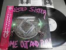 TWISTED SISTER Japan LP with OBI, INSERT, COME OUT AND PLAY