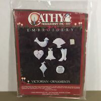 Victorian Ornaments embroidery kit 7 Christmas ornaments Cathy Needlecraft new
