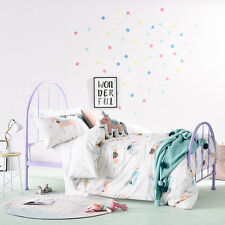 ADAIRS KIDS UNICORN PARTY REVERSIBLE COT bed QUILT DOONA DUVET COVER SET