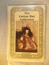 The Cotton Way Collection  Sarah Elizabeth Cloth Art Doll  Pattern Uncut