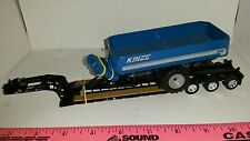 1/64 ERTL farm toy custom kinze 1300 grain cart on dcp fontaine lowboy trailer