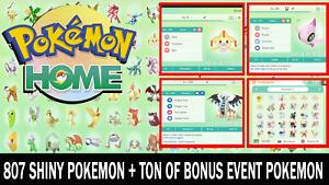 Pokemon Home Sword and Shield All 807 Living Pokedex! - 943 Pokemon Total!!