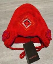 RRP £26 * CATIMINI * Girls Designer Trapper Hat * Age 2 - 4 T3 * Red