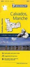 CALVADOS MANCHE MAP MICHELIN 303 - NEW - FRANCE LOCAL MAP - TOURIST AND ROAD MAP