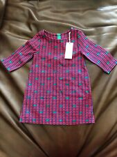 152c0f2fcf NWT Vineyard Vines Girls Toddler Holiday Party Whale Dress 3T Red Navy Green