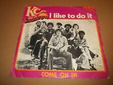 """KC AND THE SUNSHINE BAND """" I LIKE TO DO IT """" 7"""" SINGLE BENELUX EX/VG FUNK 1976"""