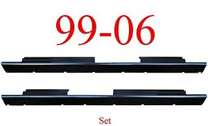 99 06 Crew Cab Slip-On Rocker Set Panel Silverado Sierra Chevy Truck GMC 1.4MM