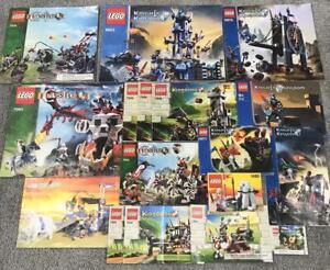 17 Lego Castle Instruction Booklet Lot -MANUALS ONLY- 6044 7038 8875 8823 7093
