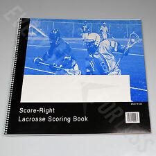 Score-Right Men's / Boy's Lacrosse Scorebook (New) Lists @ $13
