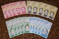 VENEZUELA BOLIVARES NEW UNC 5 X 100000 / 20000 / 10000 / 5000 LOT 20 PCS Total
