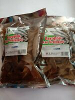 3PACK FISH CRACKERS Malaysian crackers  Healthy Fried Seafood Snack FREE SHIP