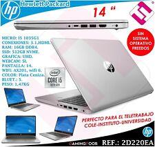 PORTATIL HP 340S 14 PULGADAS INTEL I5 1035G1 SSD 512GB 16GB DDR4 WEBCAM FREEDOS