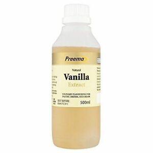 2x 500ml Preema Natural Vanilla Extract -  Bakery and Cake baking cafe essence