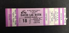 1986 Be Bop Productions David Lee Roth Coliseum Mississippi Concert Ticket