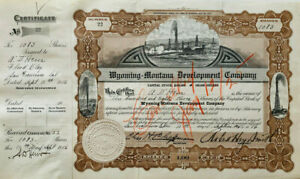 Wyoming-Montana Development Company 1916 stock certificate