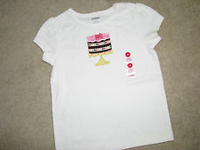 NWT NEW Gymboree Birthday Cake top short sleeves 6 yrs old girl 100% cotton