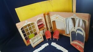 Vintage 1962 Barbie Fashion Shop Cardboard Boutique Mostly Complete Good-VG READ