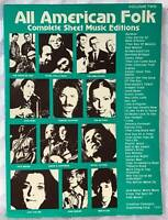 Vintage 1988 All American FOLK Complete Sheet Music Edition Vol 2 Song Book