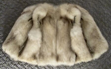 EXC M Real Silver Arctic Fox Fur Vest Gilet Cropped Short Sleeveless Jacket Coat