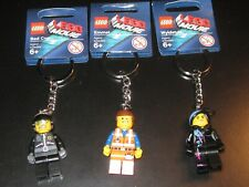 3 LOT The Lego Movie Emmet Wyldstyle & Bad Cop Keychain Mini Figures