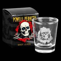POWELL PERALTA  SHOT GLASS Bones Brigade RIPPER LOGO Shot Glass with Box
