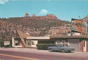 Postcard Business Card Vue Motel Silver Spruce Coffee Shop Sedona AZ VHTF B11