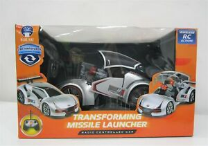 NEW Wireless RC Transforming Missile Launcher Car Silver Ages 3+ RRP $70