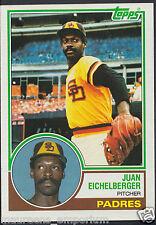 Tarjeta de béisbol Topps 1983-no 168-Juan Eichelberger-Padres